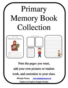 Here is a great memory book freebie for you!   Four different themes (school kids, dinosaurs, monkeys, and owls.)  Also grade level themes.  Each t...