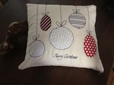 Christmas Decoration Cushion Cover Snowman With Knitted Scarf