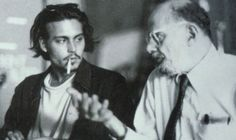 [Johnny Depp and Allen Ginsberg, Los Angeles, Press photo for The Source . Courtesy Caliope Films] [Johnny Depp at Allen Ginsberg'. Johnny Depp, Generation Photo, Beat Generation, Hipsters, William S Burroughs, Beautiful Men, Beautiful People, Allen Ginsberg, Nick Cave