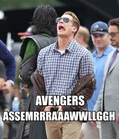 Haha! Chris Evans [Captain America] in the Avengers.