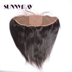 Hot Selling Virgin Brazilian Straight Hair Silk Base Lace Frontal Closure 13x4  With Baby Hair