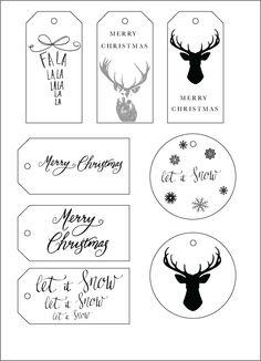 FREE – Christmas Gift Tag Printables