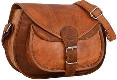 """Diese attraktive Tasche aus hochwertigem Ziegenleder präsentiert sich erfrischend im unkoventionellen und jugendlichen Design. """"Evelyn"""" macht aus Deinem Outfit etwas ganz Besonderes - Lederhandtasche - Vintage - Gusti Leder - K54b"""