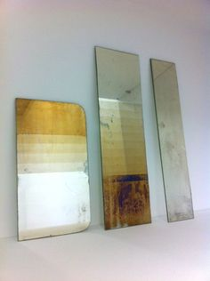 oxidized mirrors - David Derksen Design - THERE ARE SOME TUTS AVAILABLE ONLINE FOR THIS PROCESS