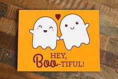Funny Halloween Love Card Hey Boo-tiful  halloween by TinyBeeCards
