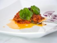 Rajčatové pyré s čerstvou bazalkou