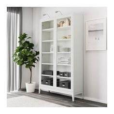 3000 kr, 118 x 203 cm REGISSÖR Vitrinskåp - vit - IKEA