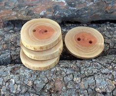 4  Wood Buttons4  Eucalypt  tree branch by forestinspiration, $7.00