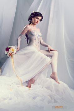 wedding Naked body dress paint
