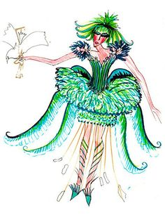 Image result for fashion illustrations of clothes by zandra rhodes