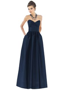 Alfred Sung Style D541  Fabric: Dupioni  Color: midnight