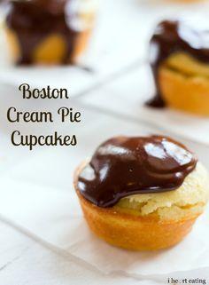 Boston Cream Pie Cupcakes | i heart eating