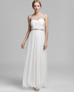 AQUA Gown - Strapless Sweetheart Neck with Beaded Waist | Bloomingdale's