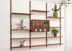 3 Bay Cado Wall Unit Bookcase Mid Century Modular System