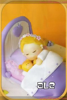 sleeping baby in bed...by ariana