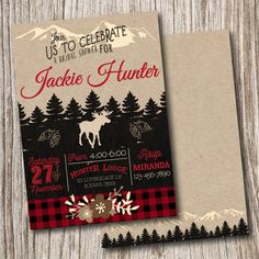 Plaid, Lumber Jack, Wilderness, Timber, Camping, Lumberjack, Clip Art, Graphics, Clipart, Invitation, Birthday, Invite, Bridal, Baby Shower