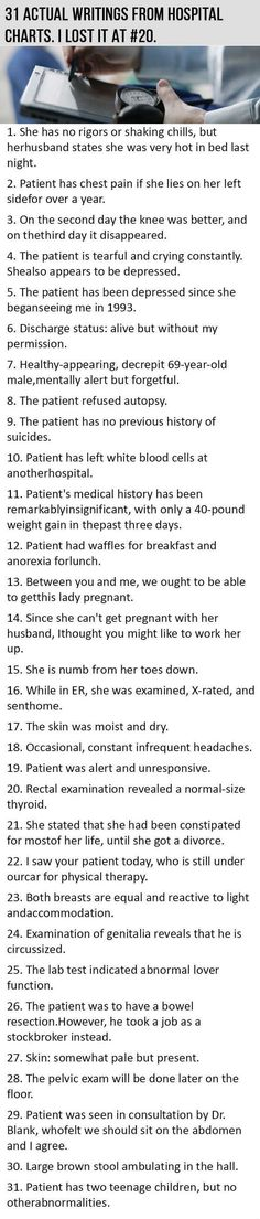 31 Actual Writings From Hospital Charts funny jokes lol funny quote funny quotes...  http://lolsalot.com/31-actual-writings-from-hospital-charts-funny-jokes-lol-funny-quote-funny-quotes/  #Funny #Pic