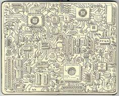 Analog motherboard by Mattias Adolfsson, via Flickr