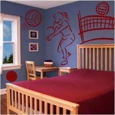 volleyball set sports wall decals. beautiful ideas. Home Design Ideas