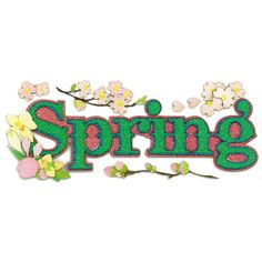 jolee's boutique spring | Jolee's Boutique® | Glitter Spring Title Stickers