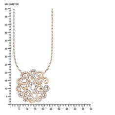 Amor Damen-Kette mit Anhänger Ornament 925 Silber teilvergoldet Zirkonia weiß 45 cm - 512824: Amazon.de: Schmuck