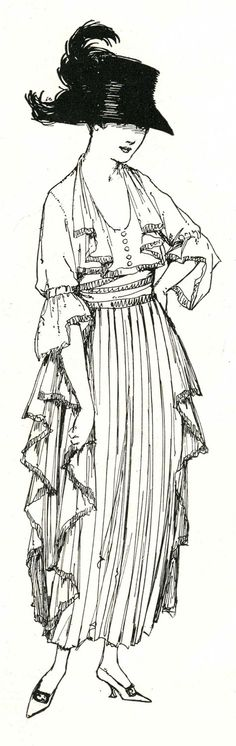 1910s Fashion ~ LÁMINAS ANTIGUAS 3-Ideas y Trabajos terminados (pág. 633)   Aprender manualidades es facilisimo.com