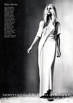 """>>> """"Ann of Antwerp"""": Focus on Ann Demeulemeester. Kristy Hume photographed by Irving Penn andFrançois Halard 