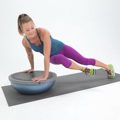 Fire Up Your Core and Whittle Your Waist With One Move: No matter how you slice it or dice it, the BOSU makes everything harder — in the best way possible!