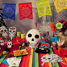 """Day of the Dead """"party in a box"""" by Postbox Party, from the notonthehighstreet.com site."""
