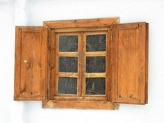 medieval window with shutters
