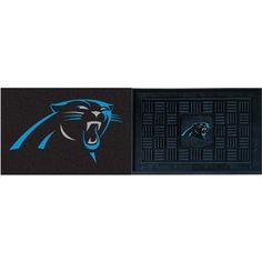 Fanmats Carolina Panthers Indoor and Outdoor Mat Set by Fanmats. $29.97. Outdoor mat has textured rubber surface for easy clean-upSoft material on indoor mat's top layer. Officially licensed Made in USA. NFL® indoor and outdoor mat set. Colorful team graphics adorn both. Step up to football frenzy and shield your floor with the Fanmats® NFL® indoor and outdoor mat set! Each is decorated with vibrant, full-color graphics of your favorite team. Their easy-to-cl...