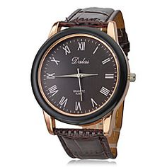 Unisex PU Analog Quartz Wrist Watch (Brown Band). Grab substantial discounts up to 50% Off at Light in the Box using Coupons & Promo Codes