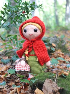 CROCHET PATTERN Red Riding Hood Instant download PDF file / 10 pages  . . . . . . . . . . . . . . . . . . . . . . . . . . . . . . . . . . . . . . . Once upon a time a little girl who lived in a forest went to visit her granny. Can you guess who she met into the woods? Make this sweet Red Riding Hood and protect her from the big bad wolf.  This PDF includes the pattern of the Red Riding Hood, her hood and her basket.  The Red Riding Hood is 10 inches (25 cm) tall, using worsted weight yarn…