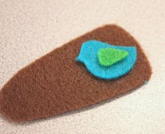 Felt Hair Clips | Make It and Love It