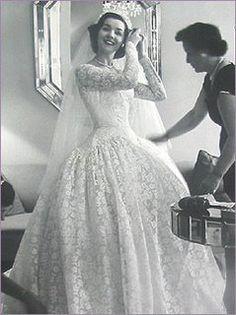 Lovely 1950 S Wedding Dress Picture Weddingdress Vintage Vintagbride 1950s