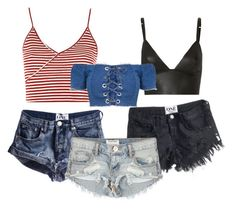 """""""Untitled #1546"""" by juliapilz on Polyvore featuring OneTeaspoon, T By Alexander Wang and Topshop"""