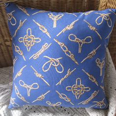 Nautical Knots Classic Handmade Pillow Decor by beachsidestyle