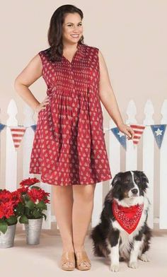 LEILANI DRESS / MiB Plus Size Fashion for Women / 4th of July / Patriotic / Red http://www.makingitbig.com/product/5325