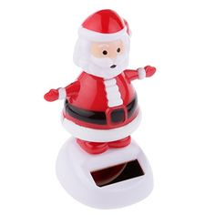 Solar Powered Shaking Toy ABS Resin Santa Claus on Stage Dancing Table Toy Dancing Toys, Solar Power Kits, Resin, Stage, Abs, Santa, Abdominal Muscles, Six Pack Abs, Scene
