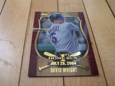 2015 Topps Series 1 #FHR-03 DAVID WRIGHT 1st Home Run Insert Card New York Mets