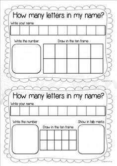 How many letters in my name? | Top Teacher - Innovative and creative early childhood curriculum resources for your classroom