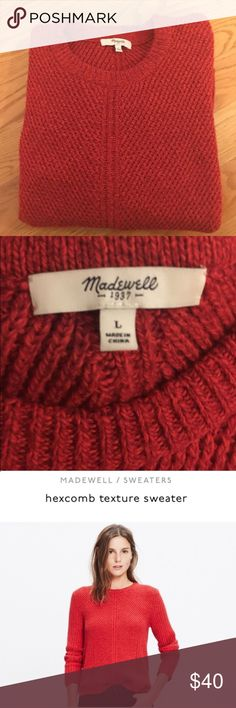 Madewell Hexcomb Texture Sweater Excellent Used Condition.  Re-posh because I just have too many sweaters! Fits more like a M/L in my opinion. Madewell Sweaters Crew & Scoop Necks