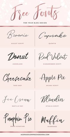 Fun handwriting fonts for design! Diy Tattoo, Font Tattoo, Tattoo Fonts Cursive, Fonts For Tattoos, Cute Cursive Font, Best Tattoo Fonts, Tattoo Quotes, Placement Tattoo, Polices Cricut