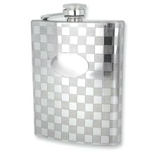 Checkered Pattern Stainless Steel 8oz Rectangle Flask Perfect Gift Idea goldia. $45.58