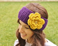 6b07097265d Items similar to Washington Huskies Crochet Headband--Earwarmer--College  Colors on Etsy