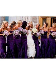 Sheath Long Purple Wedding Guest Dresses Bridesmaid Dresses 99601143