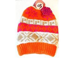 SO Girls Winter Knit Slouchy Beanie Hat - Pink and Orange SO Mercy http://www.amazon.com/dp/B00PMDRAM6/ref=cm_sw_r_pi_dp_s61Nub100QAC4