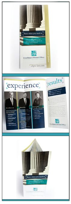 Custom short-fold brochure for attorney/law firm, via BOLD Marketing.