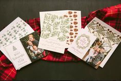 A trio of style options from Bella Figura holiday collection. Customize yours with Paper Passionista.