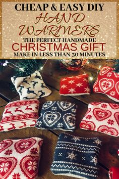 DIY Hand Warmers DIY hand warmers are the answer to keeping warm when the cold winter months set in. This is a great cheap & easy handmade gift idea you can do in 30 mins Cheap Christmas Gifts, Handmade Christmas Gifts, Cheap Gifts, Christmas Diy, Easy Homemade Christmas Gifts, Christmas Quotes, Handmade Ornaments, Merry Christmas, Easy Handmade Gifts